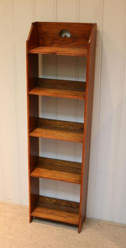 Small Proportioned Arts And Crafts Open Bookcase (1 of 8)
