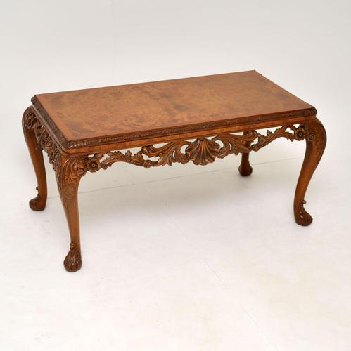 Antique Burr Walnut Queen  Anne Style Coffee Table (1 of 10)