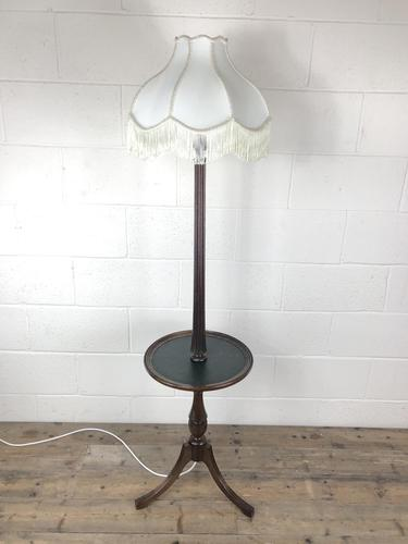 Antique Regency Style Standard Lamp with Wine Table (1 of 5)