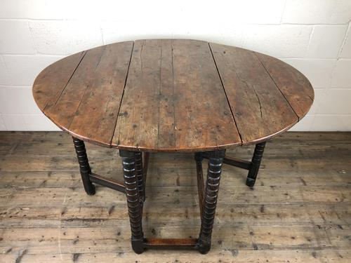 Early 18th Century Yew & Fruitwood Gateleg Table (1 of 12)
