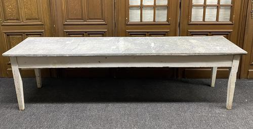 Large 19th Century French Zinc Top Table (1 of 13)