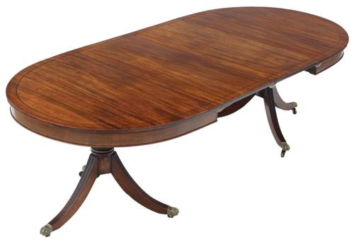 Mahogany Extending Pedestal Dining Table  19th Century (1 of 10)