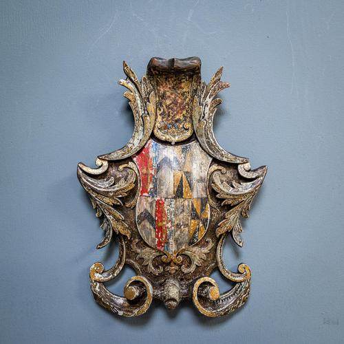 18th Century Painted Cartouche (1 of 9)
