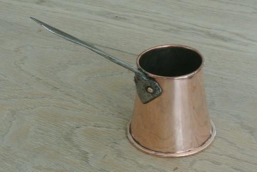 Antique 19th Century  Copper Milk Measure with Castellated Seam (1 of 7)