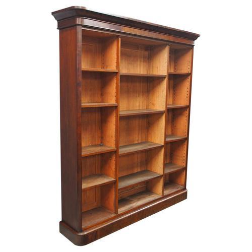 Victorian Mahogany Open Bookcase (1 of 11)
