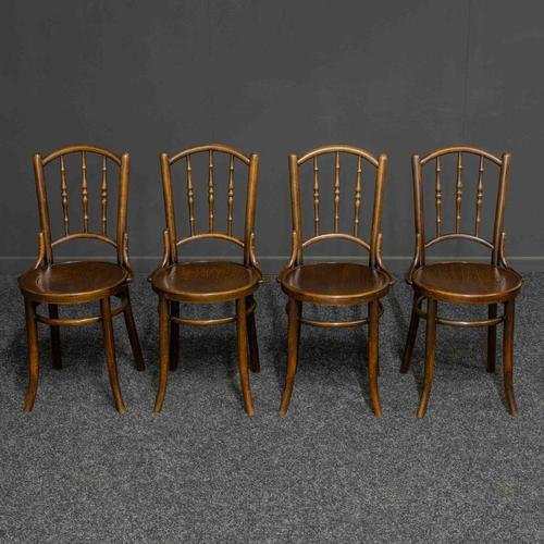 Set of Four Bentwood Chairs by Mundus and J+J Kohn LTD (1 of 9)