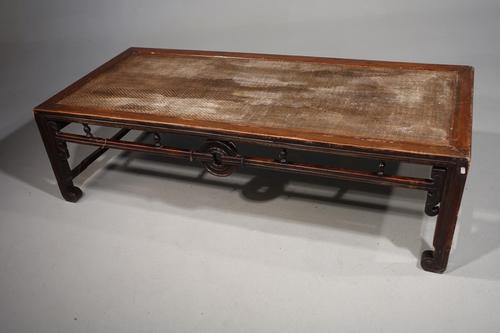 Rare Early 20th Century Elm Opium Bed (1 of 4)