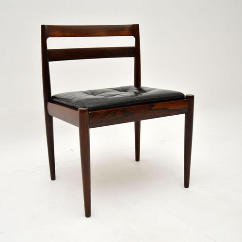 Danish Vintage Rosewood & Leather Chair by Kai Kristiansen (1 of 12)
