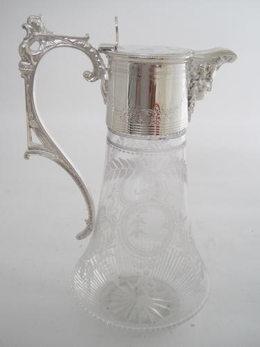 Victorian Benetfink & Co Silver Plated Claret Jug (1 of 8)