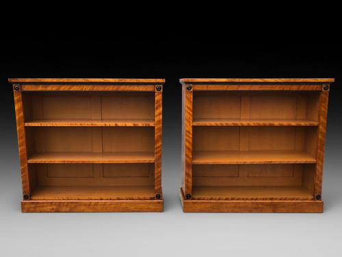 Pair of Excellent Quality Open Bookcases (1 of 5)