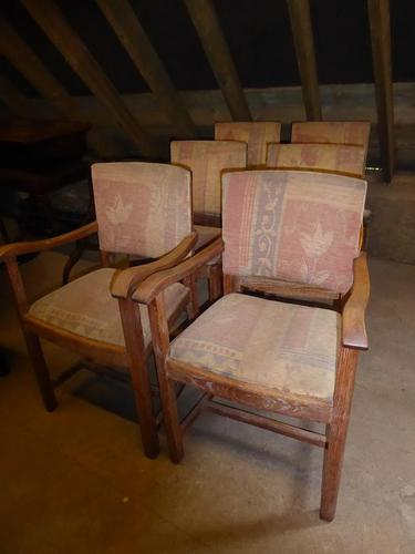 Set of Six Heal's Oak Chairs (1 of 9)