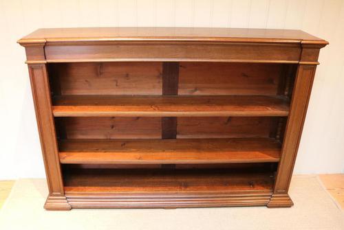 Substantial Oak Open Bookcase (1 of 9)