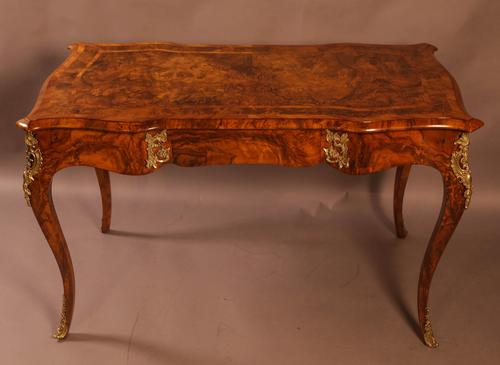 Superb French Centre Table in Burr Walnut (1 of 12)