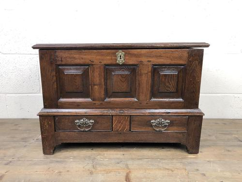Antique Welsh Oak Coffer Bach (1 of 15)