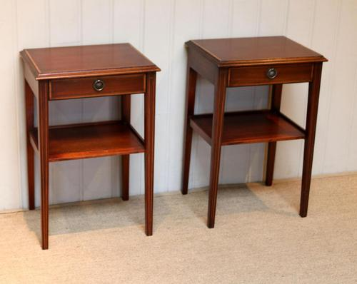 Pair of Edwardian Style Mahogany Tables (1 of 10)