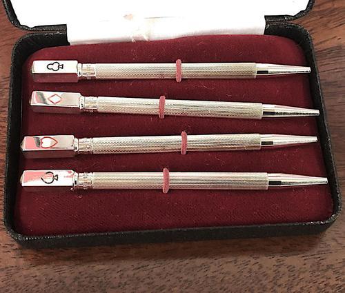 Set of Four Silver Bridge Propelling Pencils (1 of 4)