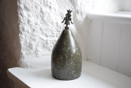 Cornish Serpentine Doorstop with Pixie Finial (1 of 10)