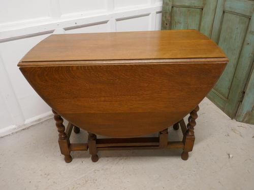 Good Solid Oak Victorian Gateleg Table (1 of 7)