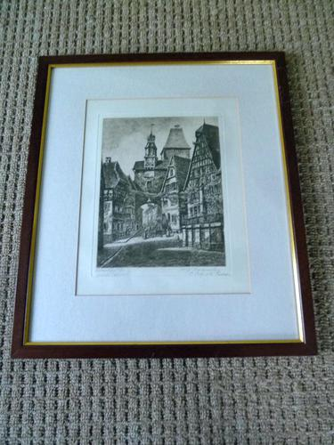 Etching by Professor Otto Ferdinand Probst - Rothenberg ? (1 of 5)