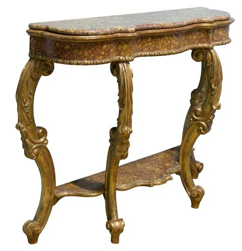 Italian carved giltwood console table c1770 (1 of 7)