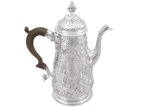 Sterling Silver Coffee Pot - Antique George II 1748 (1 of 12)