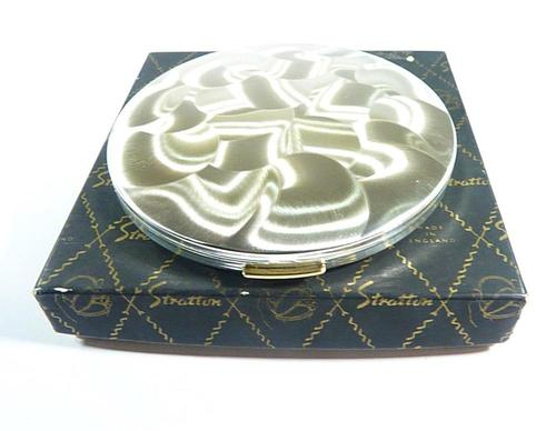 Unused Boxed Silver Plated Powder Compact 1960s (1 of 6)