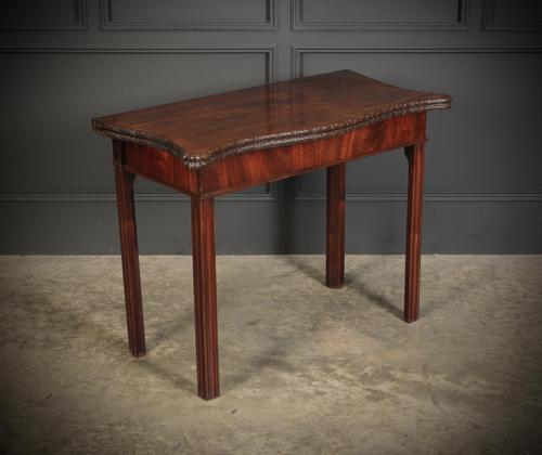 George IV Serpentine Shaped Tea Table (1 of 12)