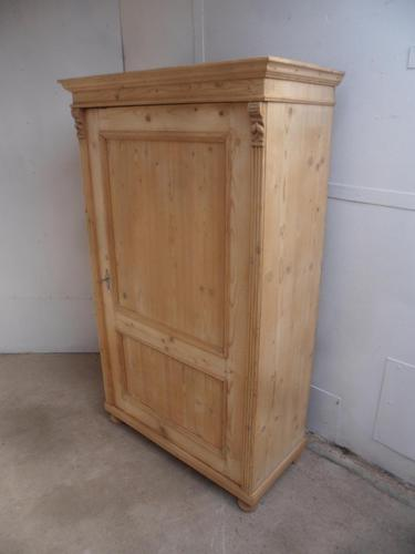 Super 1 Door Victorian Antique Pine Kitchen / Linen Cupboard to wax / paint (1 of 10)