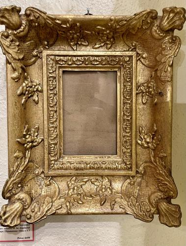 Pair of Pretty Small Victorian Gilt Foliate Decorated Picture Frames (1 of 2)