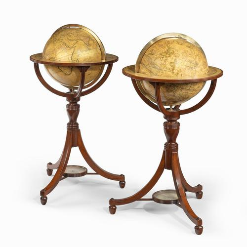 A pair of 12-inch floor globes by Cary (1 of 9)