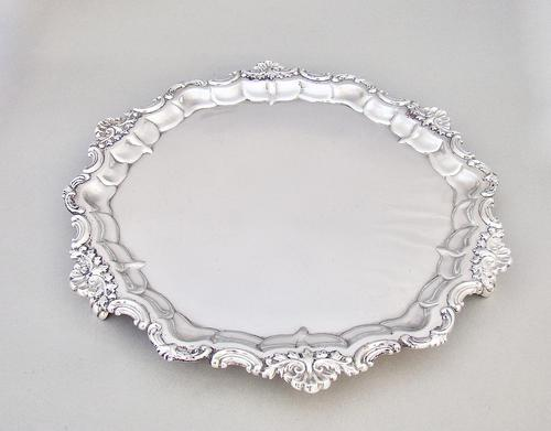Superb Early Victorian 11 Silver Plated Salver c.1840 (1 of 4)