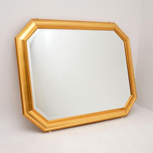Large Vintage Gilt Wood Mirror (1 of 9)