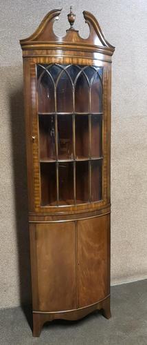 Reproduction Mahogany Corner Cabinet / Corner Cupboard (1 of 8)