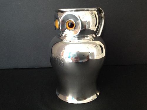 Antique Victorian Silver Owl Jug - 1896 (1 of 6)