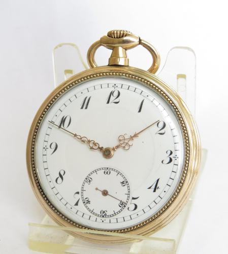 Antique Gold Plated Pocket Watch (1 of 5)