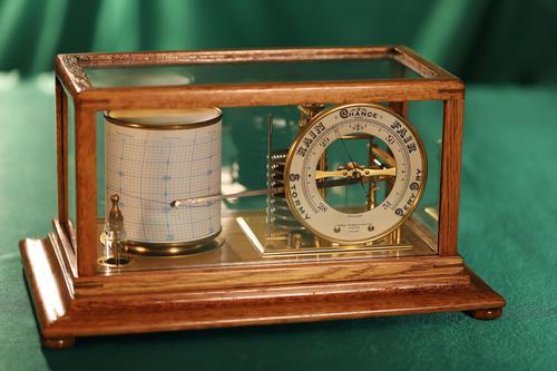Short & Mason Tycos Drum Barograph and Barometer No H 5431 c1930 (1 of 13)