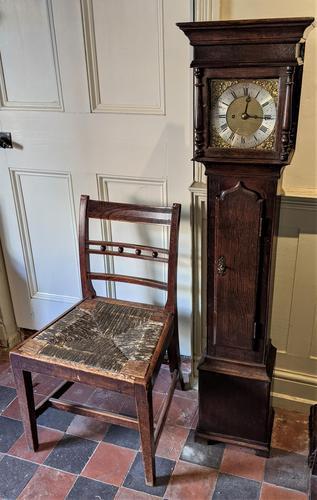 Early 20th Century Oak Granddaughter Clock (1 of 6)