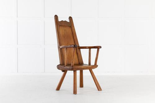 18th Century Belgian Primitive Ash Chair (1 of 6)