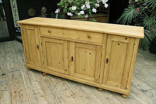 2m Pine Dresser Base Sideboard / Cupboard / TV Stand (1 of 13)