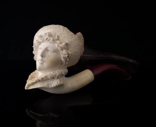 Antique Meerschaum pipe, Lady in a Hat (1 of 10)