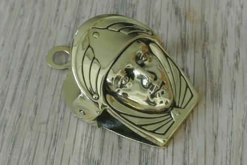 French Art Nouveau Brass Paper Clip Letter Clip c.1905 (1 of 5)