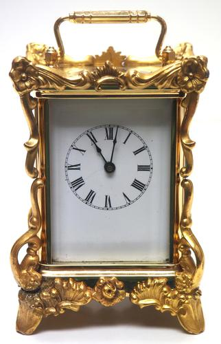 Extremely Rare 8-day Striking Carriage Repeat Feature Waterbury Clock Co c.1880 (1 of 14)