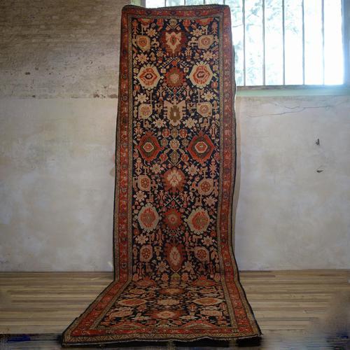 Extremely Long Early 20th Century Kuba Kelleh Corridor Carpet - Rug (1 of 11)