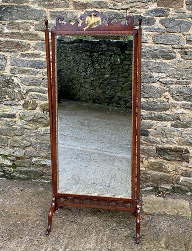 Antique Mahogany Cheval Mirror (1 of 18)