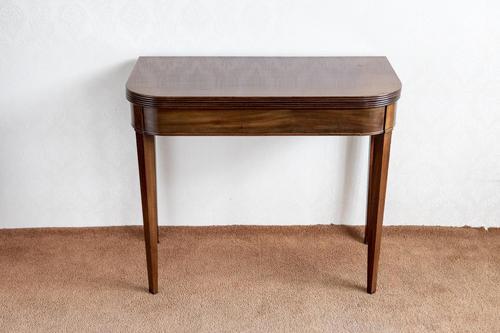"""Early 19th Century """"d"""" Shaped Mahogany Tea Table (1 of 8)"""