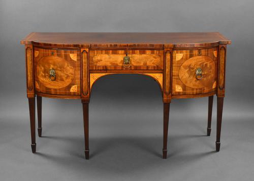 George III Mahogany & Satinwood Sideboard (1 of 20)