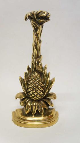 """Victorian  13"""" brass door stop,  door porter - Pineapple (1 of 9)"""