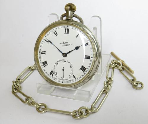 1920s Kays Standard Lever Pocket Watch & Chain (1 of 5)