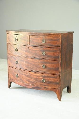 Antique Mahogany Bow Front Chest of Drawers 5334645 (1 of 13)