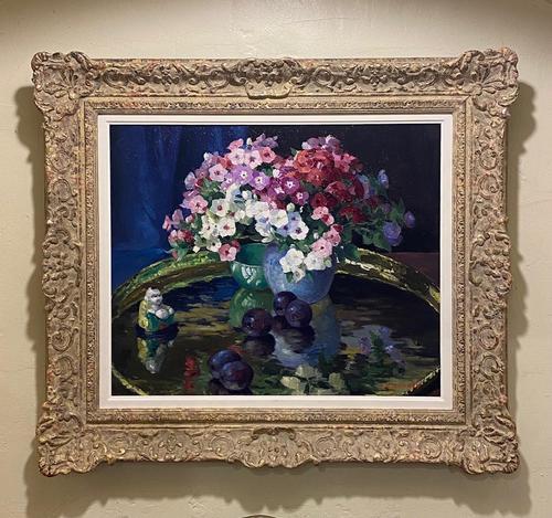 """Very Pretty Oil on Board """"Phlox"""" by Edward Hartley Mooney (1 of 4)"""
